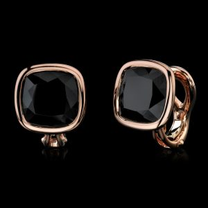 Robert Procop rose gold and black earrings