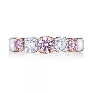 Eternity Style 5 Across Pink and White Diamond Ring