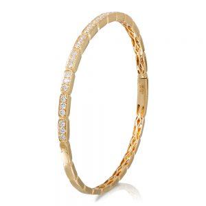 18k yellow gold tennis bracelet with 39 diamonds