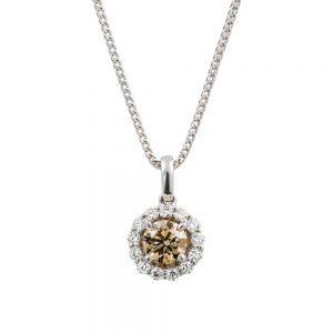 Champagne Diamond Cluster Pendant