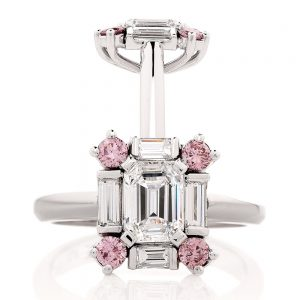 Emerald cut diamonds are special and faceted in a way that makes them look very distinct.