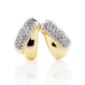 Pave Crossover Diamond Earrings