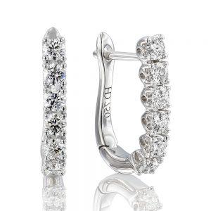 Holloway Diamond Line Drop Earrings 110977