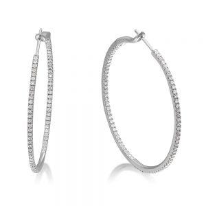 Grand Diamond Hoop Earrings