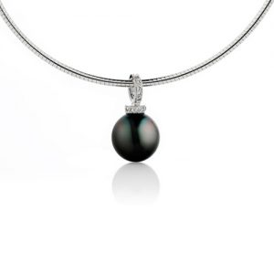 Diamond and Tahitian Pearl Pendant