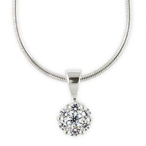 simple Diamond Cluster Pendant