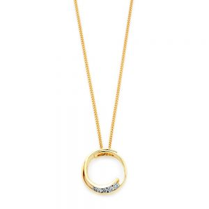 Small Diamond Circle Pendant