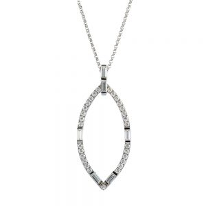 Marquise Diamond and Baguette Pendant