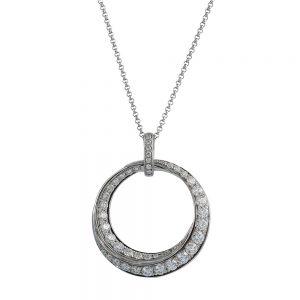 Circular Swirl Diamond Pendant