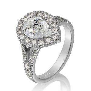 Holloway Diamonds Pear Cut Diamond Cluster Ring hero 180695