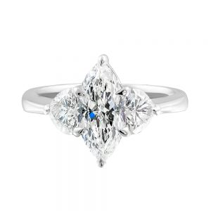 This stunning Marquise Diamond top Ring features Platinum and an 18 karats white gold ring.