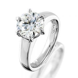 Fine rings platinum sterling silver diamond design set white gold
