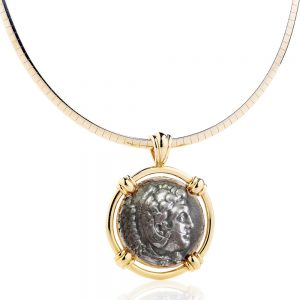 Ancient Alexander The Great Coin Pendant