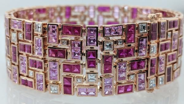Robert Procop Masterpiece ruby and sapphire bracelet