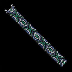 Robert Procop American Glamour Emerald & Blue Sapphire Bracelet