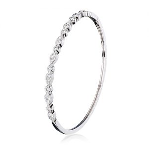 white gold bangle with diamonds