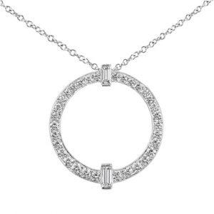 Circle Diamond Pendant