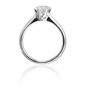 Solitaire Diamond ring. Standing