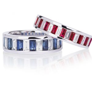 Ruby & sapphire rings